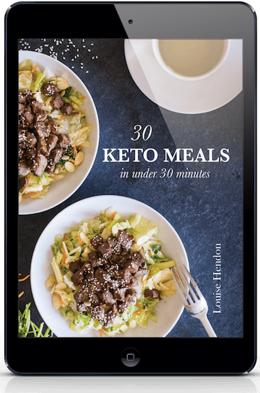 30 keto meals in under 30 minutes cookbook cover